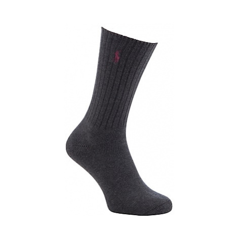 Polo Ralph Lauren Ribbed Cotton Socks, One Size, Grey