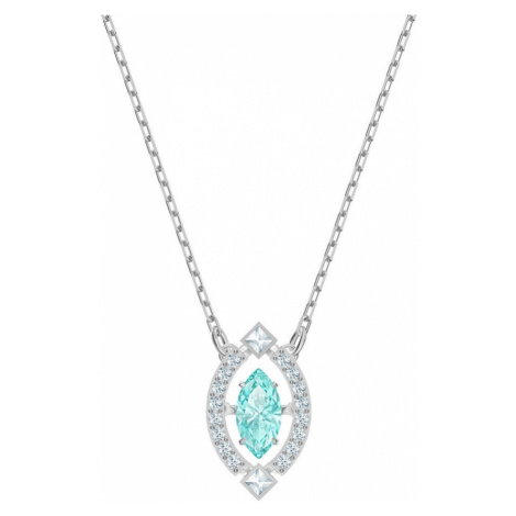 Swarovski Sparkling Dance Turquoise Crystal Necklace