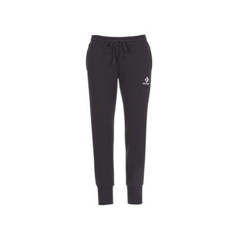 Converse CONVERSE STAR CHEVRON EMBROIDERED SIGNATURE PANT women's Sportswear in Black