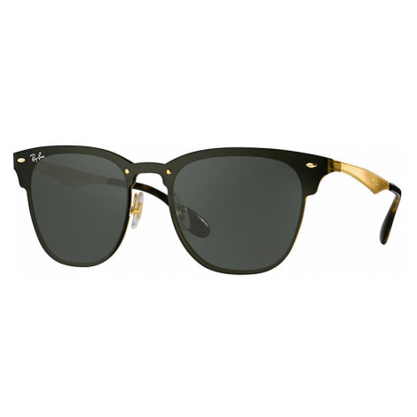 Ray-Ban Blaze clubmaster Unisex Sunglasses Lenses: Green, Frame: Gold - RB3576N 043/71 01-47