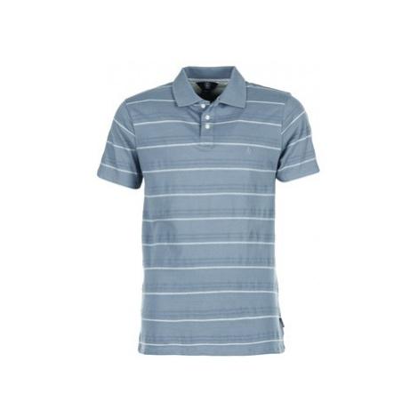 Volcom WOOZER STRIPE men's Polo shirt in Blue