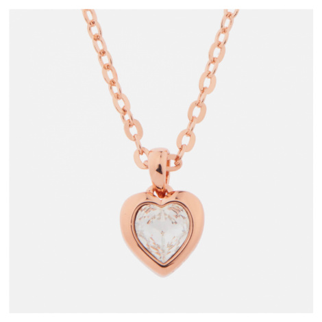 Ted Baker Women's Hannela Swarovski Crystal Heart Pendant - Rose Gold/Crystal