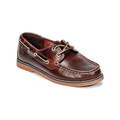 Timberland SEABURY CLASSIC 2EYE BOAT girls's Children's Boat Shoes in Brown