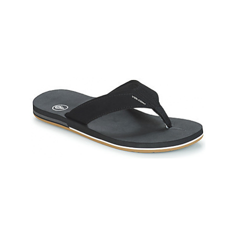 Volcom VICTOR men's Flip flops / Sandals (Shoes) in Black