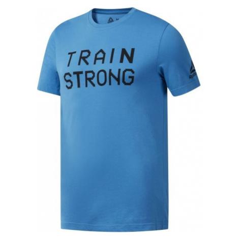 Reebok GS TRAIN STRONG TEE blue - Men's T-Shirt