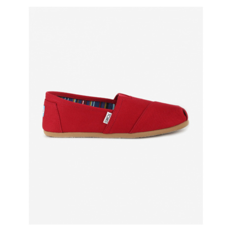TOMS Classic Slip On Red