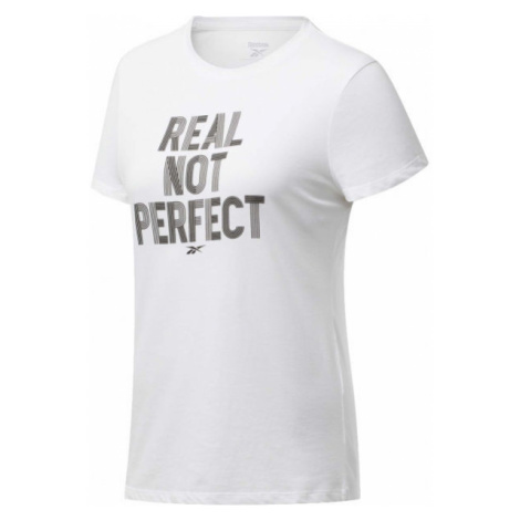 Reebok TE GRAPHIC TEE REAL white - Women's T-shirt
