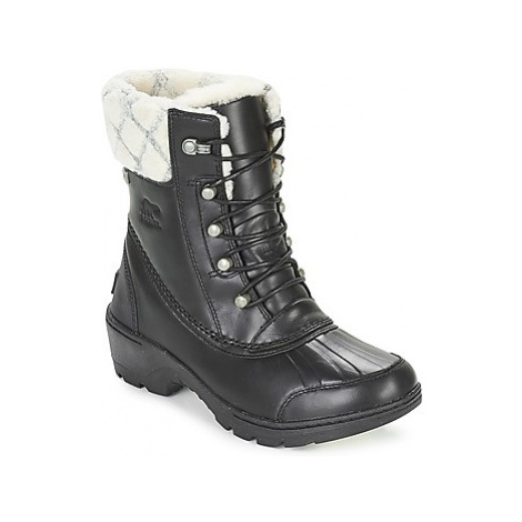 Black women's snow boots