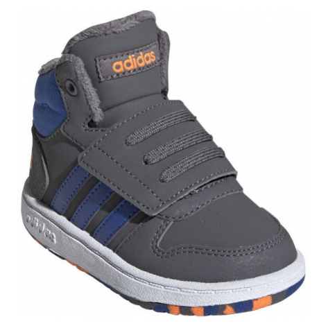adidas HOOPS MID 2.0 I gray - Children's casual sneakers