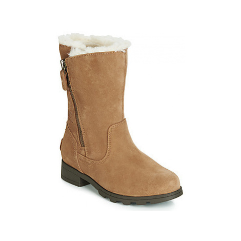 Sorel YOUTH EMELIE FOLDOVER girls's Children's Mid Boots in Brown