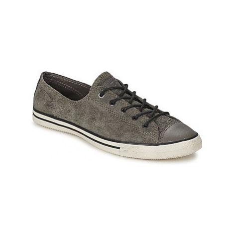Converse ALL STAR FANCY LEATHER OX women's Shoes (Trainers) in Grey
