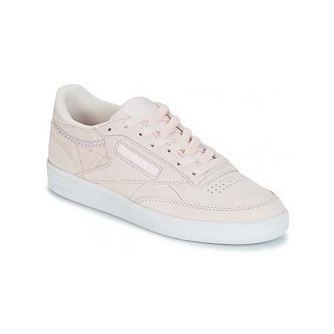 Reebok Classic CLUB C 85 TRIM NBK women's Shoes (Trainers) in Pink