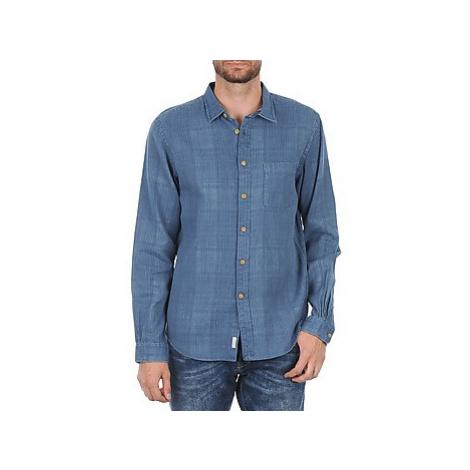 Façonnable JJMCT502000ERE men's Long sleeved Shirt in Blue