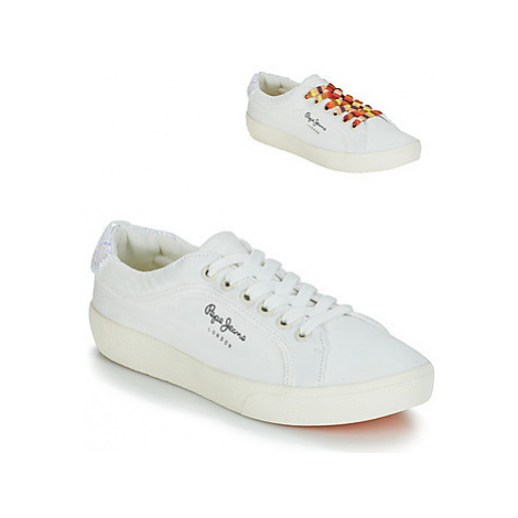 Pepe jeans RENE SURF women's Shoes (Trainers) in White