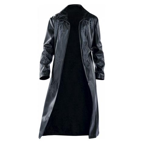 Tribal Coat - - Imitation leather coat - black