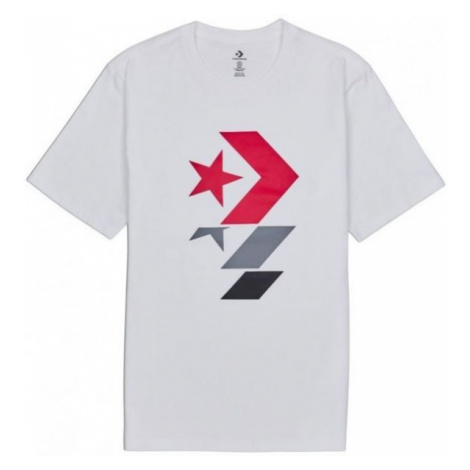 Converse REPEATED STAR CHEVRON TEE white - Men's T-Shirt