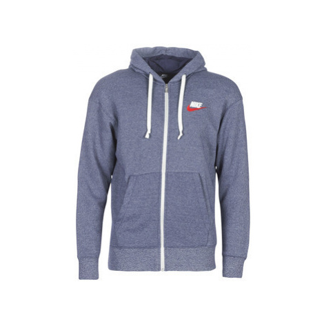 Nike M NSW HERITAGE HOODIE FZ men's Sweatshirt in Blue