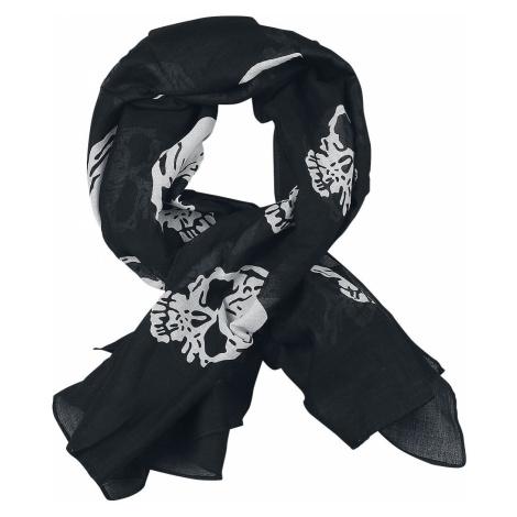Rock Daddy Death Skul Scarf Cloth black white