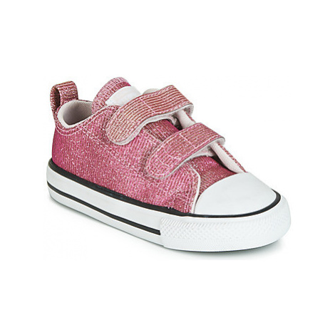 Converse CHUCK TAYLOR ALL STAR 2V SPACE STAR OX girls's Children's Shoes (Trainers) in Pink