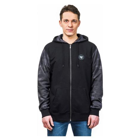 sweatshirt Horsefeathers Sphere Zip - Black - men´s