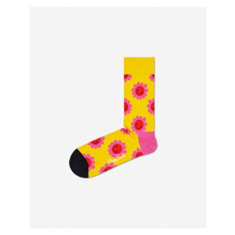 Happy Socks Smile Flower Socks Yellow