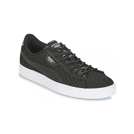 Puma BASKET SATIN EP WN'S women's Shoes (Trainers) in Black