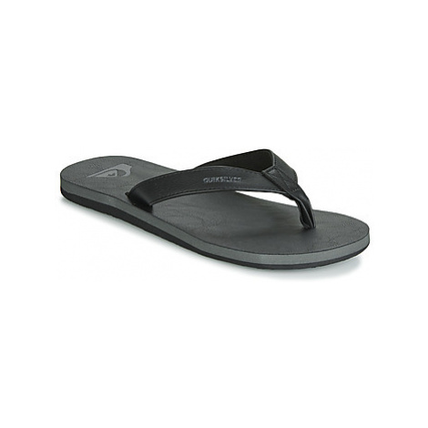 Quiksilver MOLOKAI NUBUCK M SNDL SBKM men's Flip flops / Sandals (Shoes) in Black