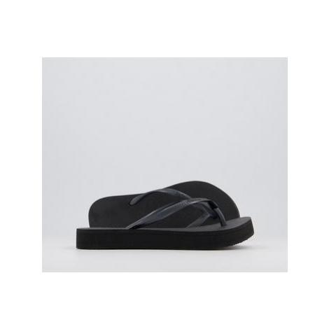 Havaianas Slim Flatform Flip Flops BLACK