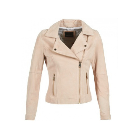 Oakwood 61936 women's Leather jacket in Beige