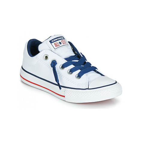 Converse CHUCK TAYLOR ALL STAR STREET CANVAS OX girls's Children's Shoes (Trainers) in White