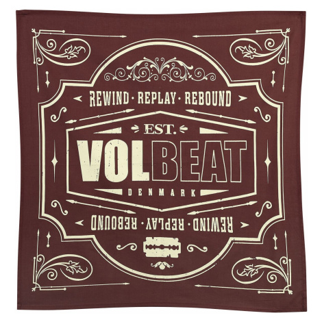 Volbeat Rewind, replay, rebound Bandana red