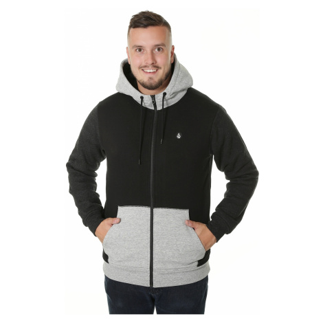 sweatshirt Volcom Single Stone Lined Zip - Black Combo - men´s