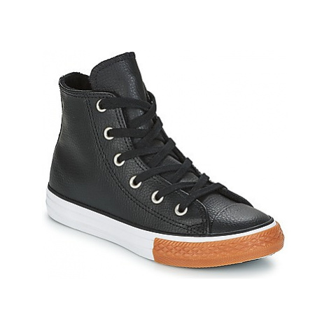 Converse CHUCK TAYLOR ALL STAR HI girls's Children's Shoes (High-top Trainers) in Black