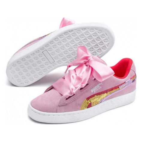 Puma SUEDE HEART TRAILBLAZER SQ pink - Kids' walking shoes
