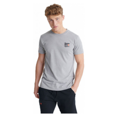 Superdry CORE SPORT SMALL LOGO TEE grey - Men's T-Shirt