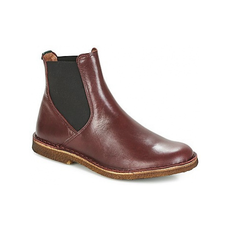 Kickers TINTO women's Mid Boots in Bordeaux