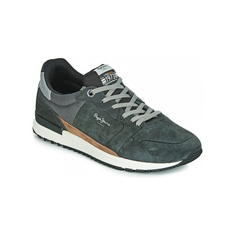 Pepe jeans TINKER PRO RACER men's Shoes (Trainers) in Grey