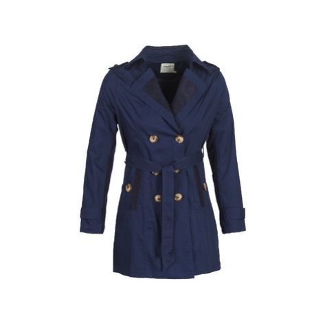 Smash ANNABEL women's Trench Coat in Blue