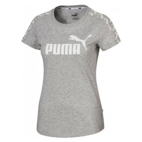 Puma AMPLIFIED TEE gray - Women's sports T-shirt