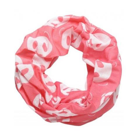 Finmark CHILDREN'S MULTIFUNCTIONAL SCARF pink - Kids' multi-purpose scarf