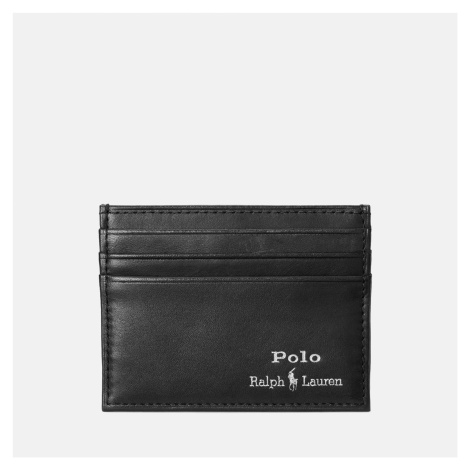 Polo Ralph Lauren Men's Smooth Leather Card Case - Black