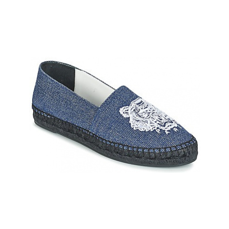 Kenzo TIGER FLUO CANVAS MIXED women's Espadrilles / Casual Shoes in Blue
