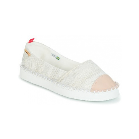 Havaianas ORIGINE FLATFORM UP women's Espadrilles / Casual Shoes in White