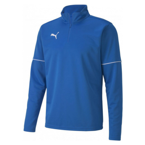 Puma TEAMGOAL 1 4 ZIP TOP CORE blue - Men's sweatshirt