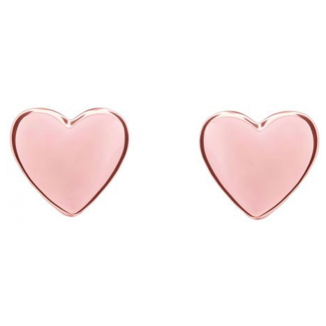 Ladies PVD rose plated Harly Tiny Heart Stud Earrings