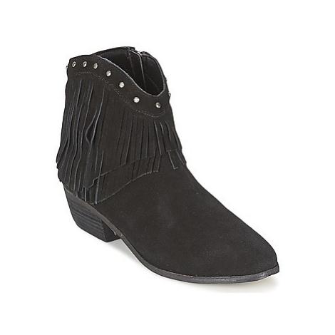 Minnetonka BANDERA SUEDE BOOT women's Mid Boots in Black