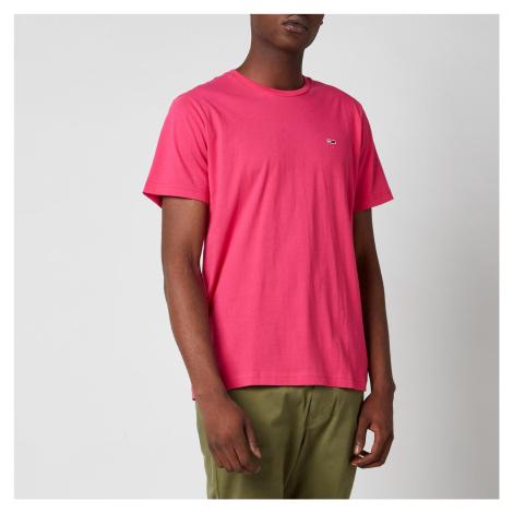 Tommy Jeans Men's Classic Logo T-Shirt - Bright Cerise Pink Tommy Hilfiger
