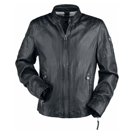 Gipsy - GBWeaton LWAWV - Leather jacket - dark blue