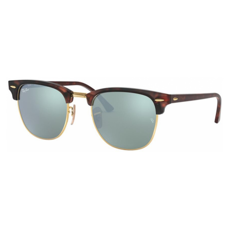Ray Ban Unisex RB3016 CLUBMASTER FLASH LENSES - Frame color: Tortoise, Lens color: Silver, Size