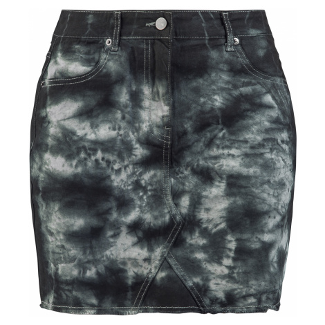 Forplay - Destroyed Vintage Five Pocket Denim Skirt - Mini skirt - black-grey